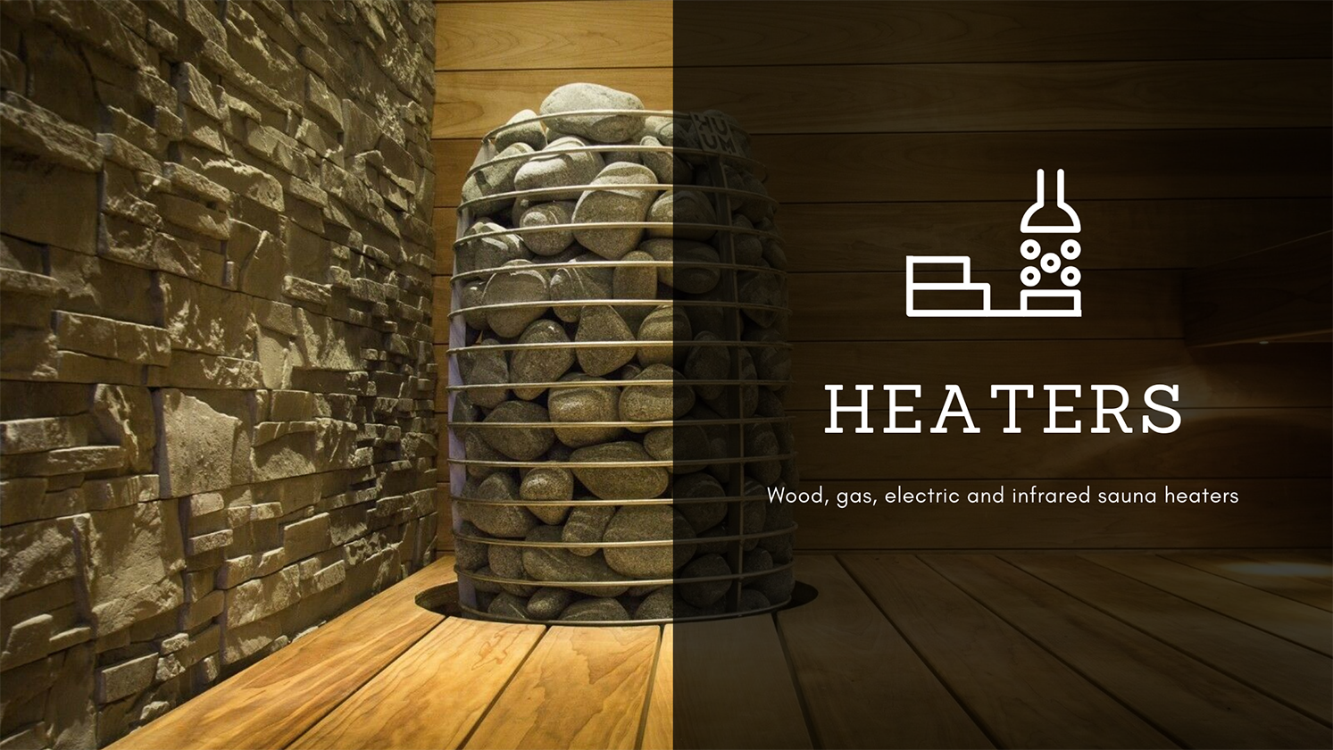 Wood, gas, electric and infrared sauna heaters